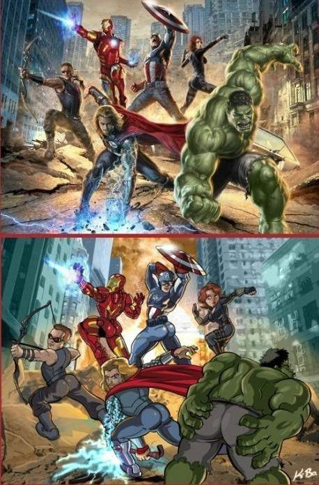 What-if-the-male-Avengers-posed-like-the-female-one